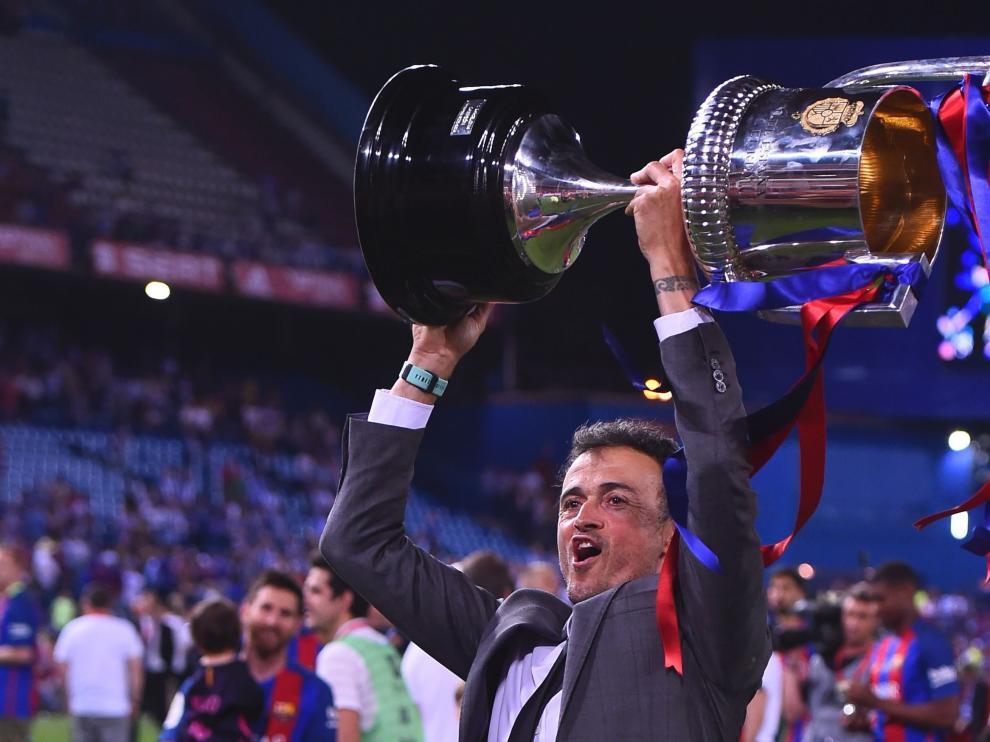 Final de la Copa del Rey entre el Barcelona y el Alavés