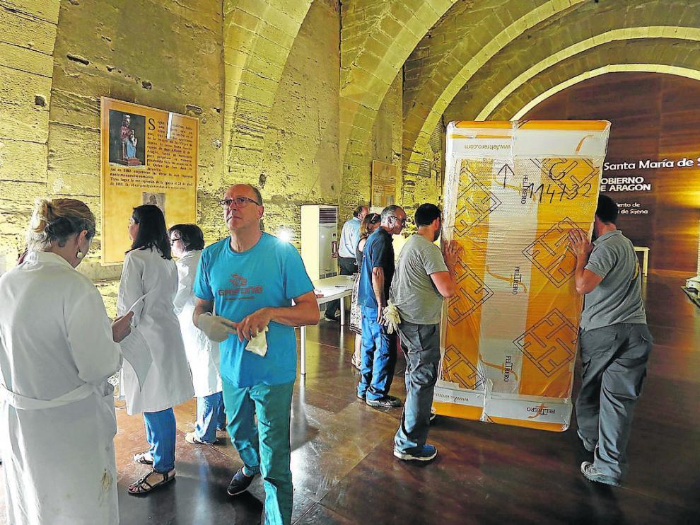 Las 51 piezas que Cataluña accedió a entregar llegaron al monasterio el 26 de julio de 2016.
