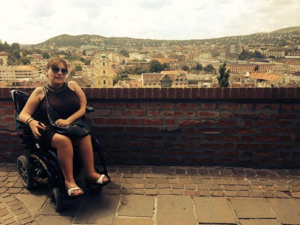 Miriam Herrero, durante un viaje a Budapest.