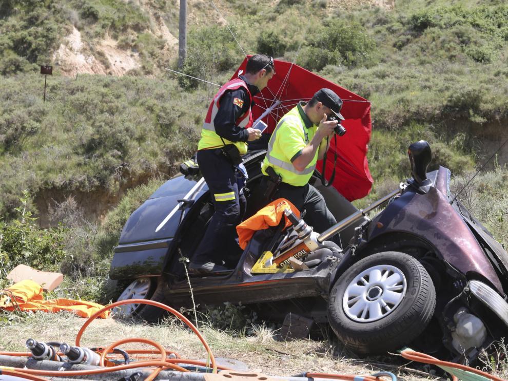 Uno de los accidentes a los que acudieron los bomberos.