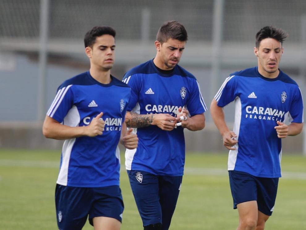 Imagen de archivo de un entrenamiento del Real Zaragoza.