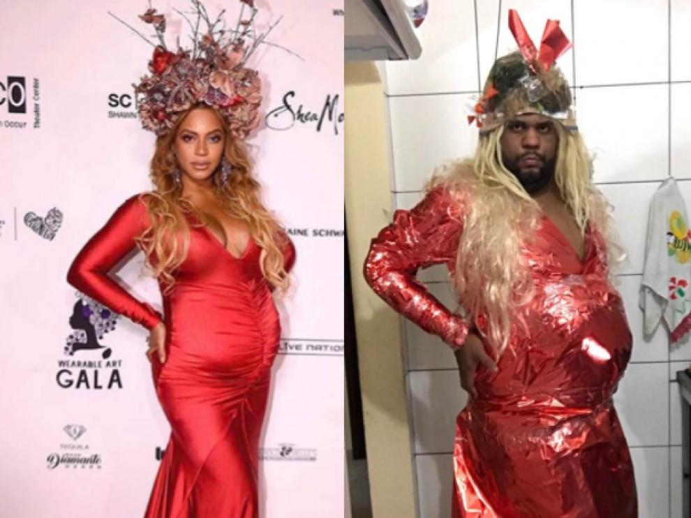 Un bloguero recrea los looks de las famosas con desechos