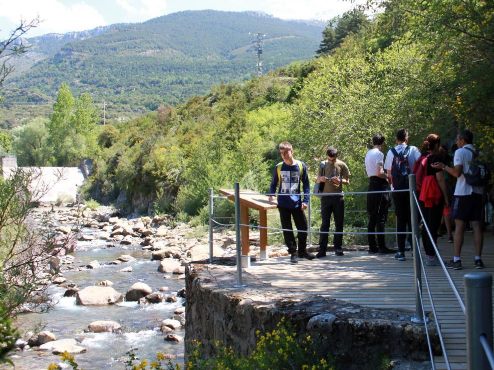 La cara desconocida del río Aragón a su paso por Villanúa