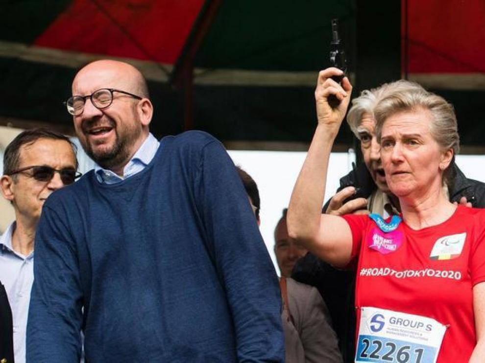 El primer ministro belga, Charles Michel, reacciona al pistoletazo de salida del pasado domingo.