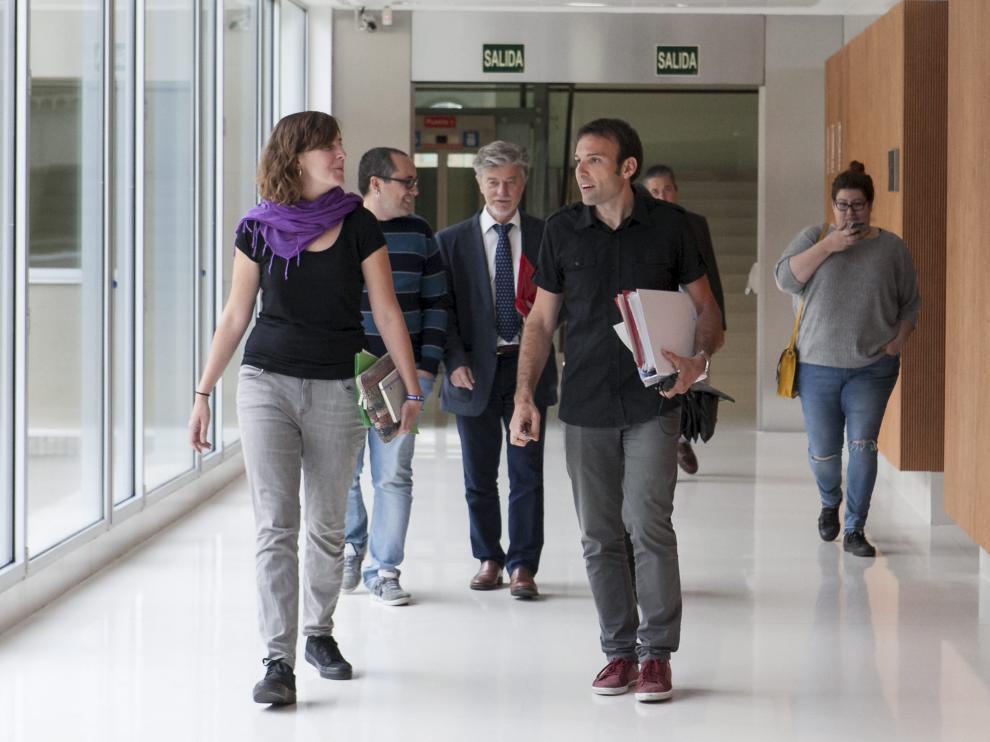 De izquierda a derecha, Artigas, Cubero, Santisteve y Muñoz, en la comisión de investigación, en una foto de archivo.