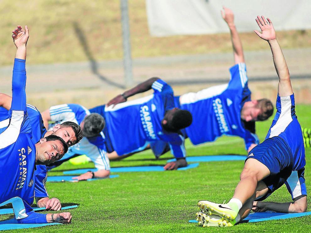 Imagen de la sesión de entrenamiento del pasado lunes.