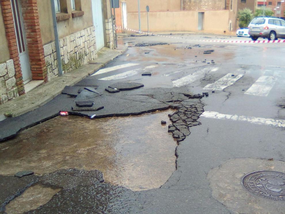 Las lluvias han deteriorado el pavimento en varias calles