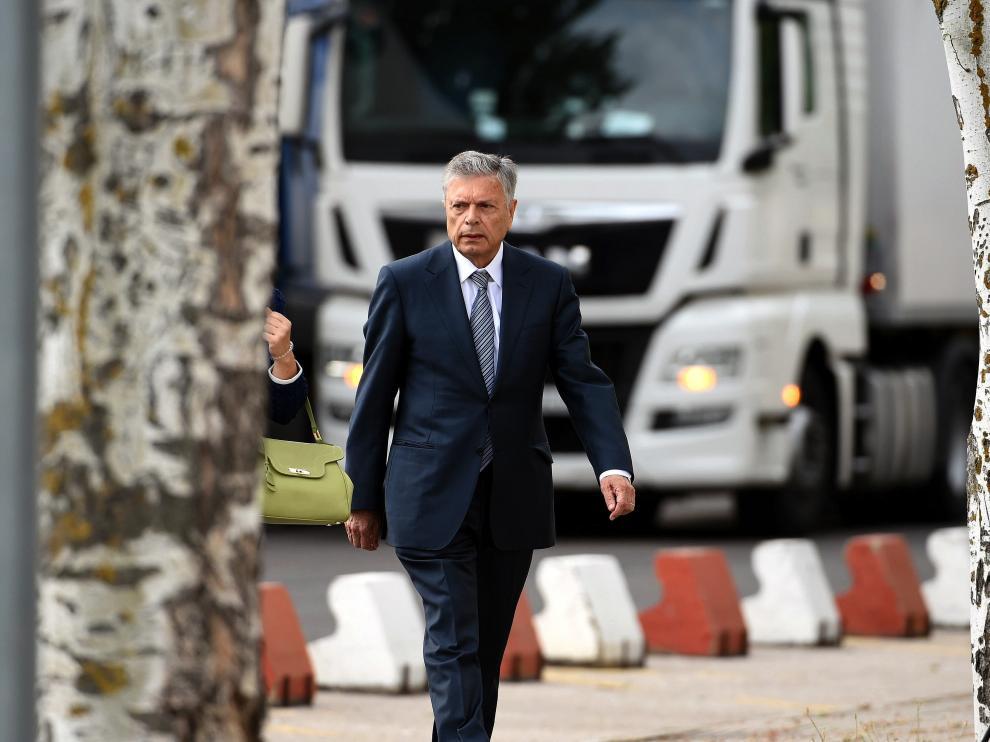 Modesto Crespo a su llegada a la Audiencia Nacional.