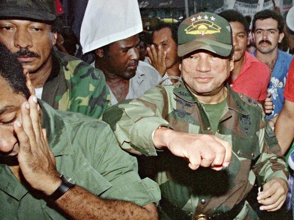 Manuel Antonio Noriega en 1989.