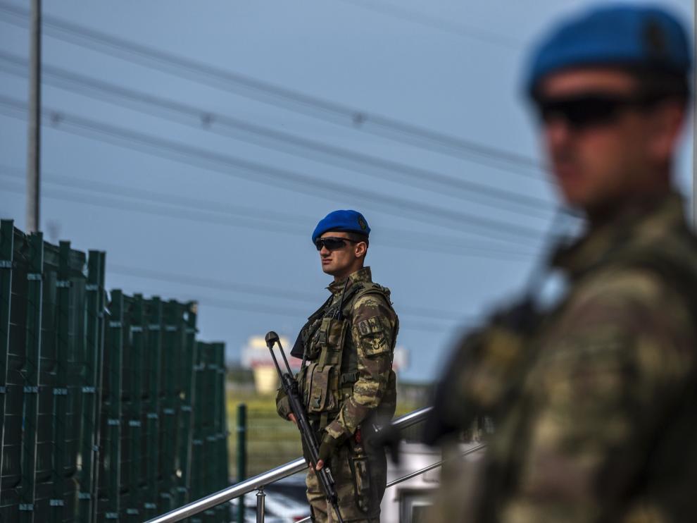Miembros de las fuerzas especiales turcas.
