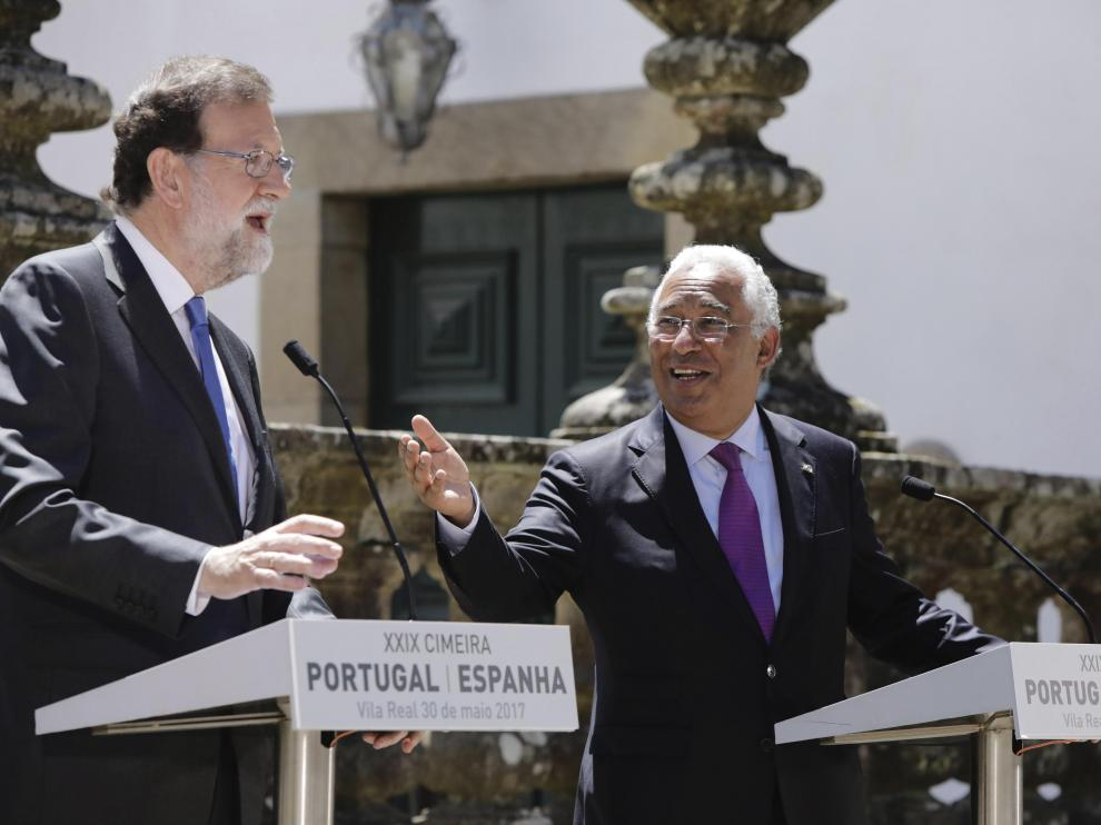 Rajoy y Costa en Portugal.