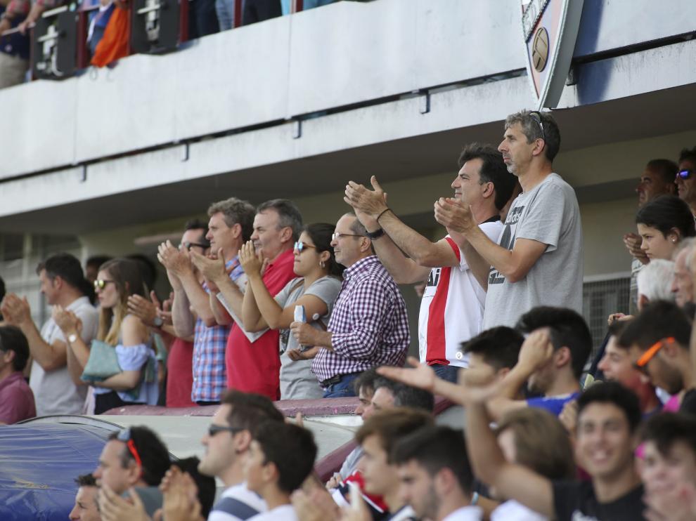 Un grupo de aficionados, en el partido del pasado sábado ante el Lugo.