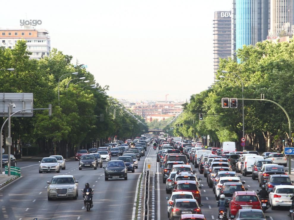 Huelha de taxistas contra Uber y Cabify.