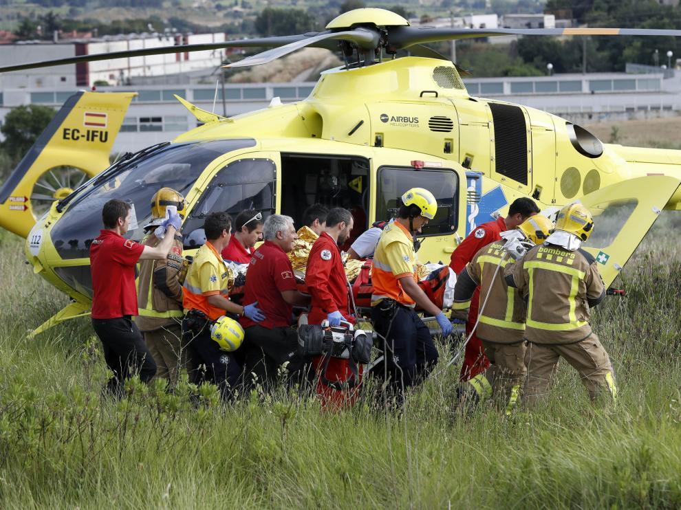 Los Bomberos rescataron en estado muy grave a un joven de 27 años.