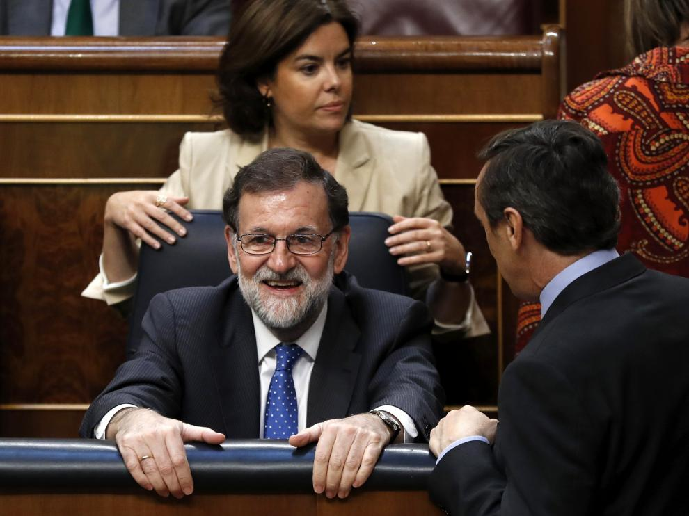 Rajoy en el Congreso este miércoles.