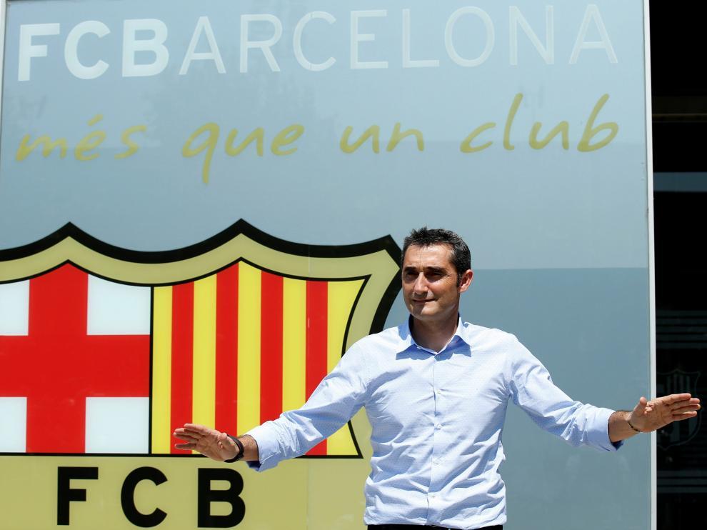Ernesto Valverde en Camp Barça