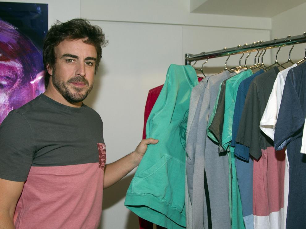 Fernando Alonso en Nueva York.