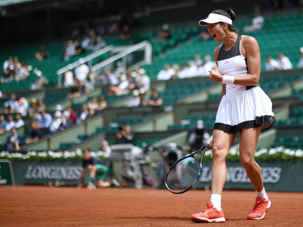 Muguruza en el Roland Garros.