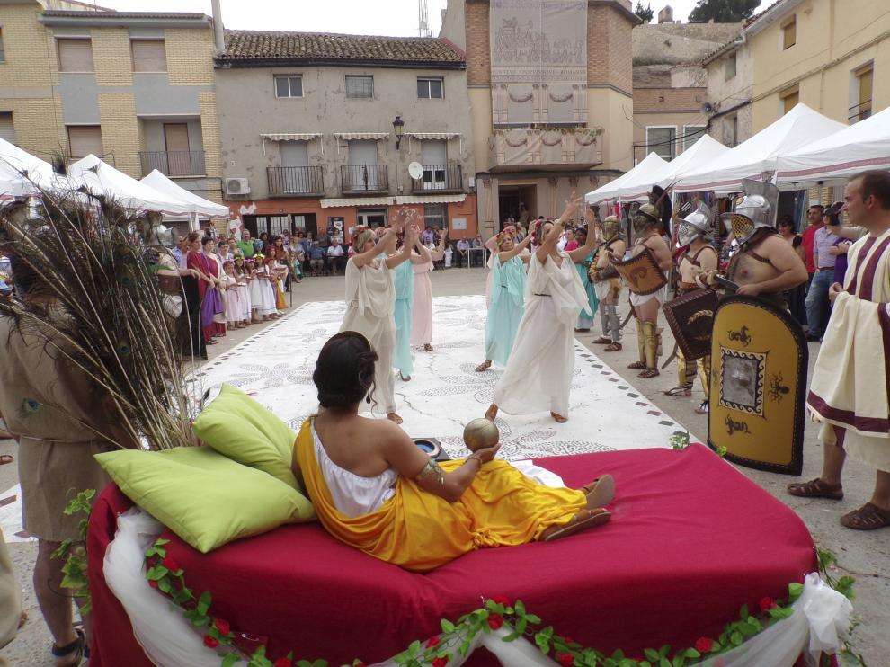 Danzas romanas en el foro durante la celebración de las Nonas de Junio.