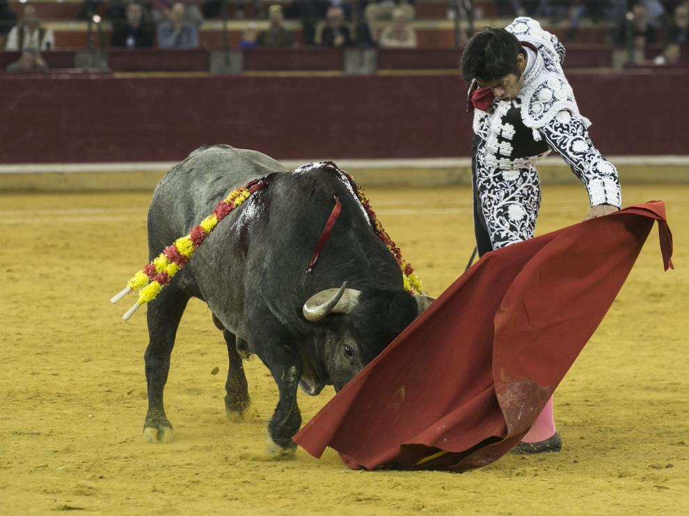 Paulita, en la plaza de toros de Zaragoza.
