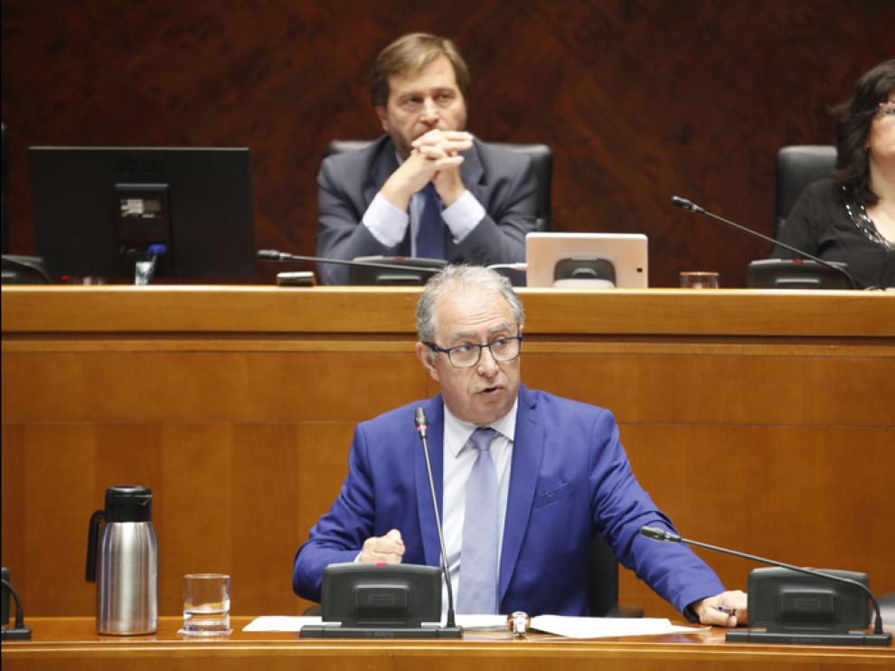 Fernando Gimeno en una comparecencia en la Comisión de Hacienda y Administración Pública de las Cortes.