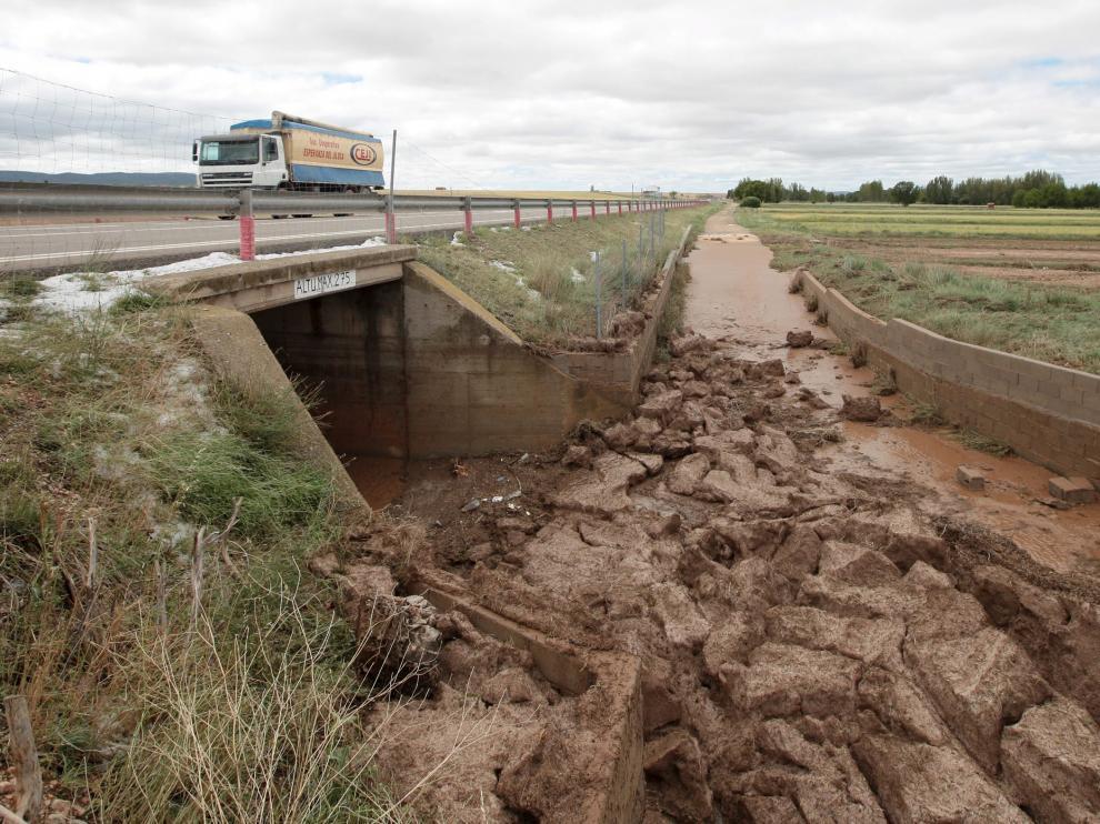 Imágenes de los destrozos causados por la lluvia en Torrijo del Campo