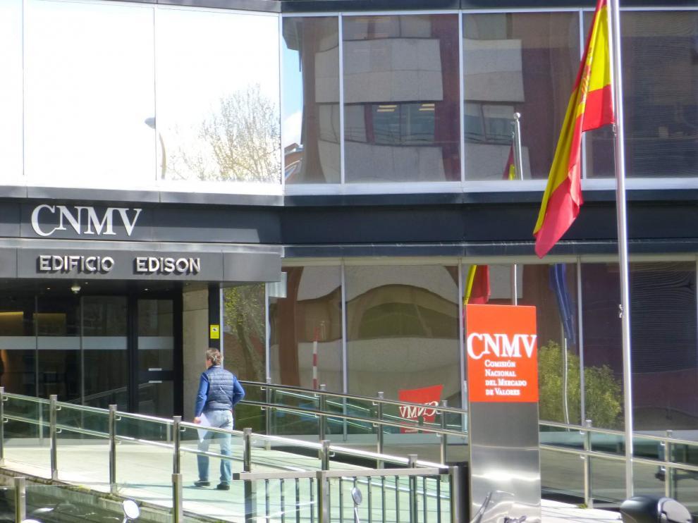 La sede de la CNMV en Madrid.
