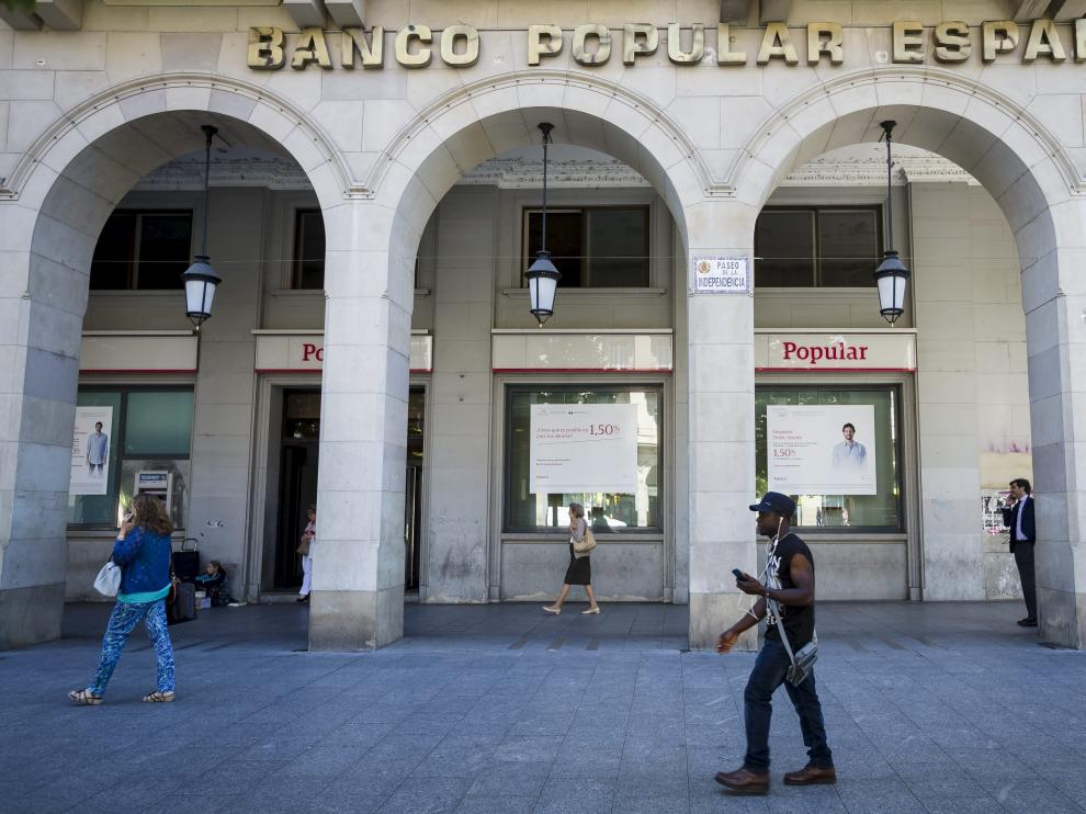 Oficina del Banco Popular en Zaragoza.