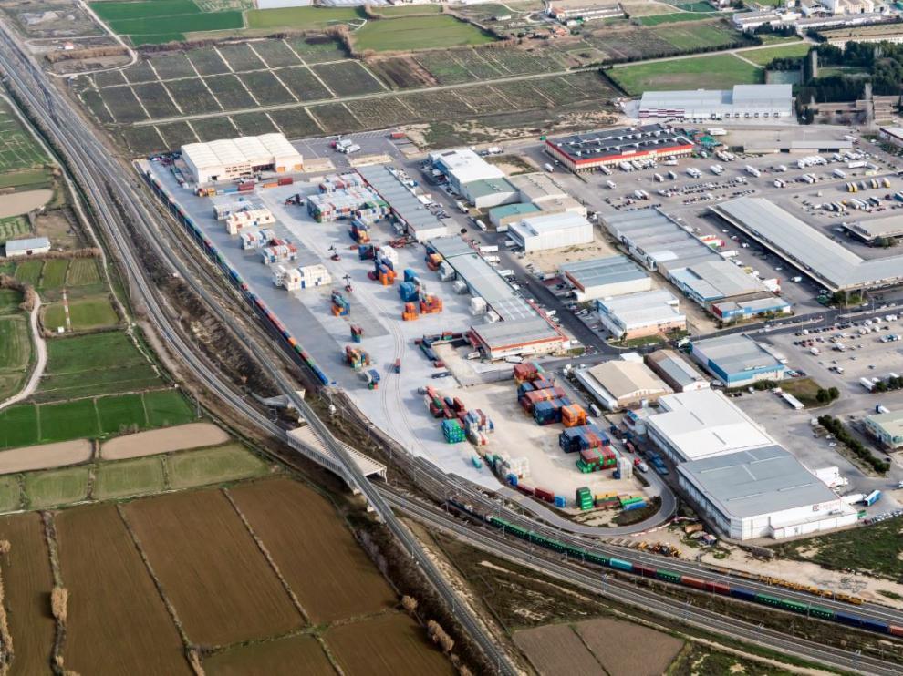 Imagen de archivo del centro de transporte intermodal en Mercazaragoza.