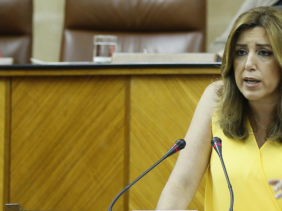 Susana Díaz en el Parlamento andalúz.