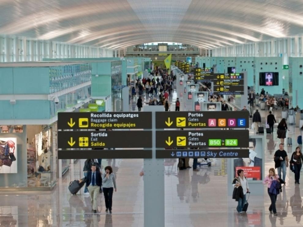 Terminal 1 de el aeropuerto Barcelona-El Prat.