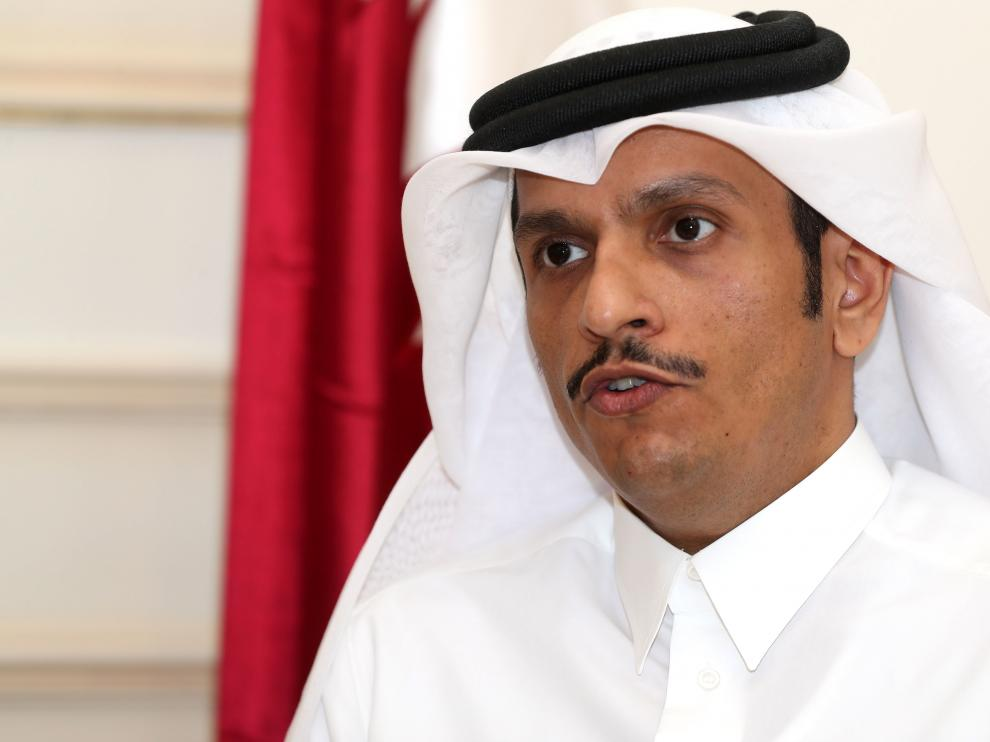 El ministro de Exteriores qatarí, Mohamed bin Abdulrahman.