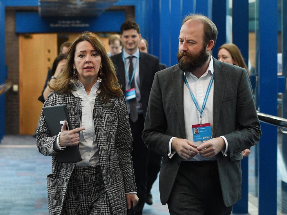Fiona Hill y Nick Timothy, jefes de gabinete de Theresa May.