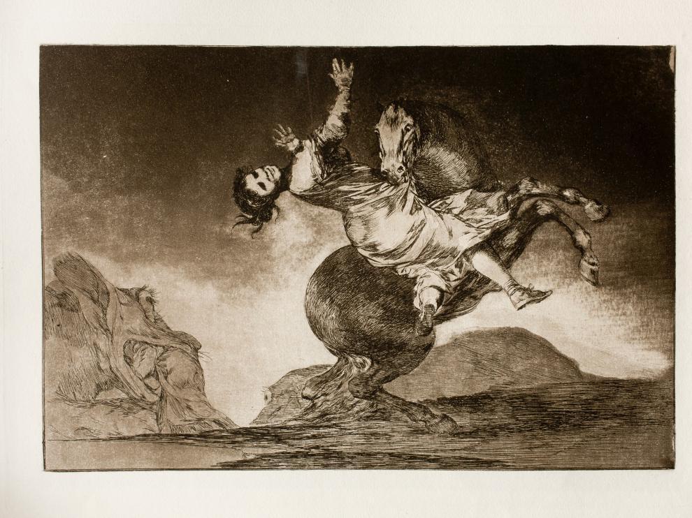 Uno de los grabados de Goya facilitados por el Museo De Reede de Amberes.