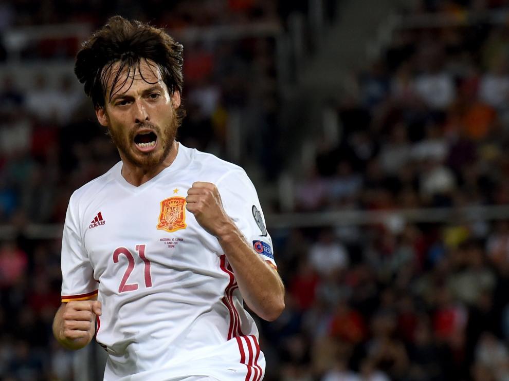 Silva metió el primer gol.
