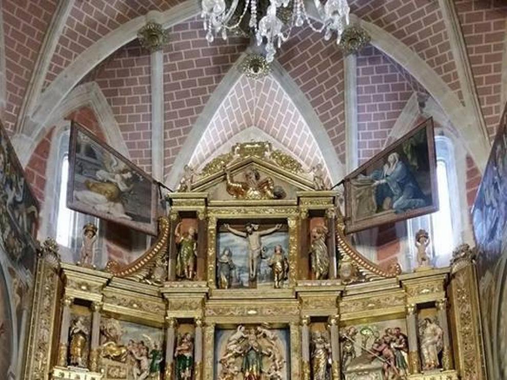 Imagen del retablo restaurado.
