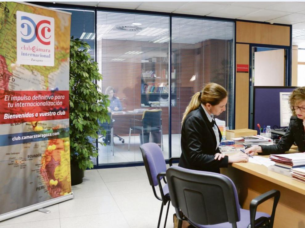 Servicios para la internacionalización de la Cámara de Comercio de Zaragoza.