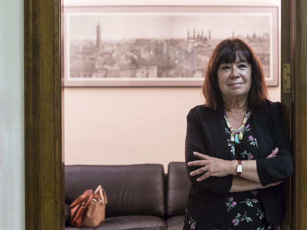 Cristina Narbona, en el Colegio de Abogados de Zaragoza.