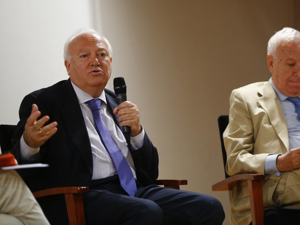 Moratinos y García-Margallo, este lunes.