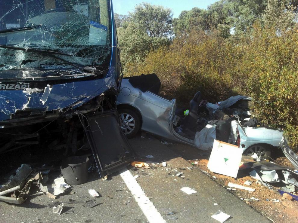 Accidente ocurrido este fin de semana en Ciudad Real