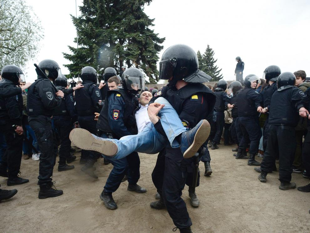 Protestas en Moscú
