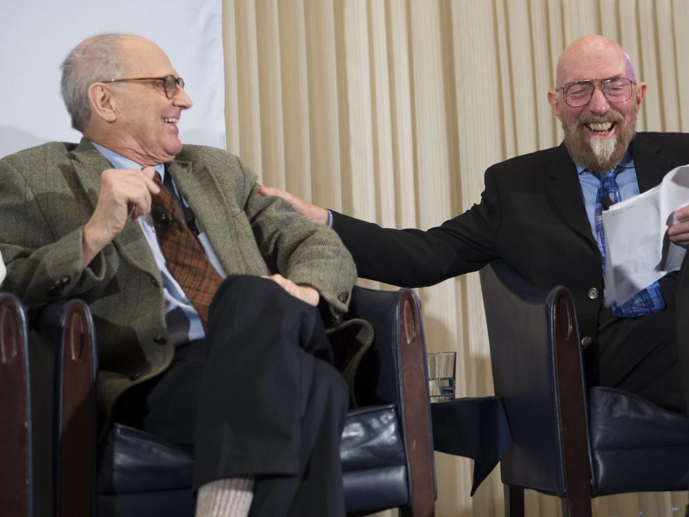 Kip S. Thorne y Rainer Weiss en una foto de archivo.