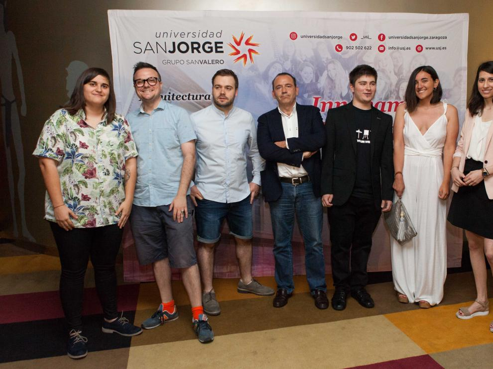 Isabel Mateo, Ignacio Estaregui, Lucas Castán, Jaime García, Eduardo Pérez, Claudia Buisán y Elena Capapé.
