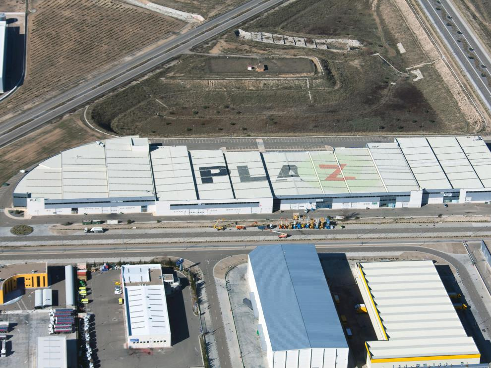 Imagen de archivo de la plataforma logística Plaza en Zaragoza.
