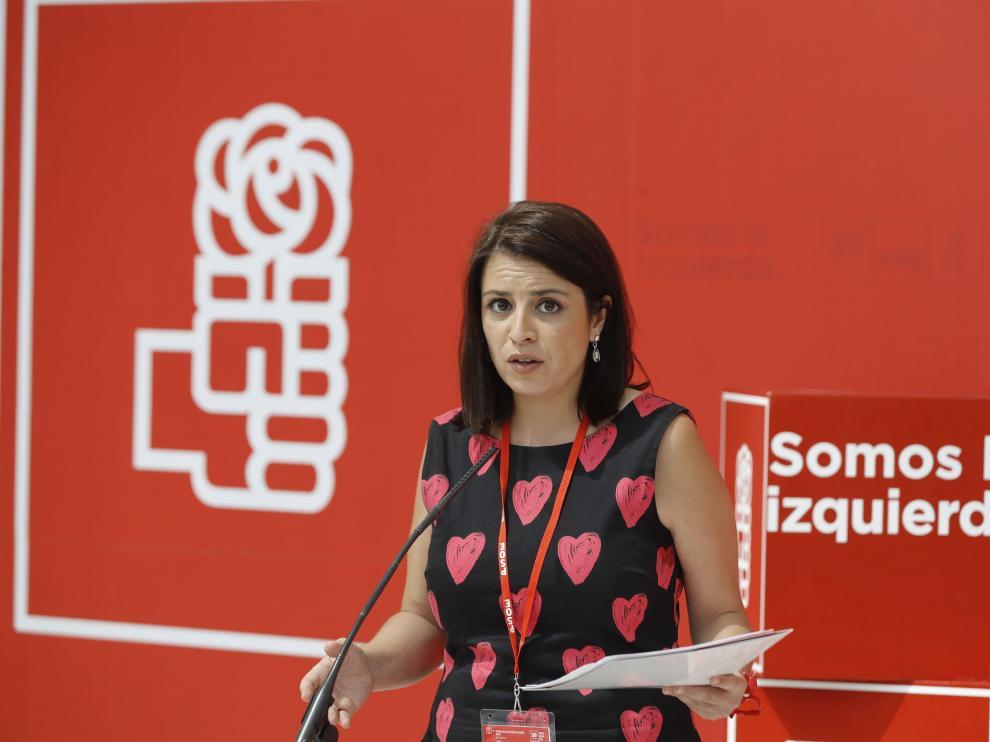 Imagen de archivo de la vicesecretaria general del PSOE, Adriana Lastra.