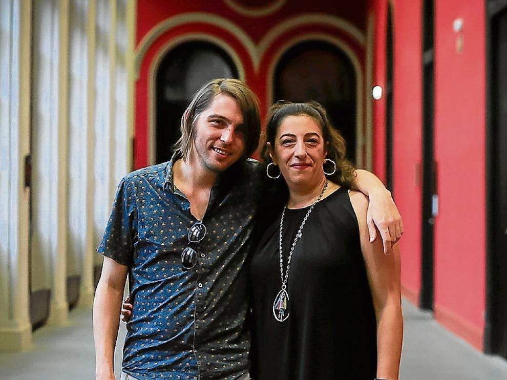 Juan Soto y María Frisa, el pasado jueves, en el Paraninfo.