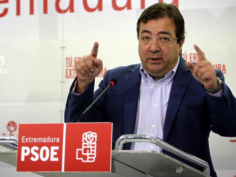 El secretario general del PSOE de Extremadura, Guillermo Fernández Vara.