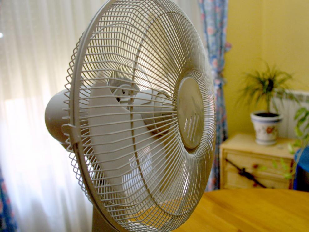 Un ventilador en una vivienda aragonesa.