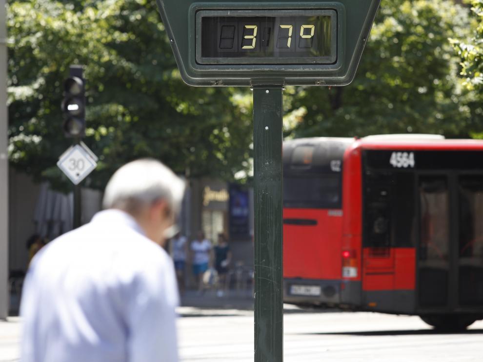 Zaragoza soporta hoy temperaturas de hasta 40 grados