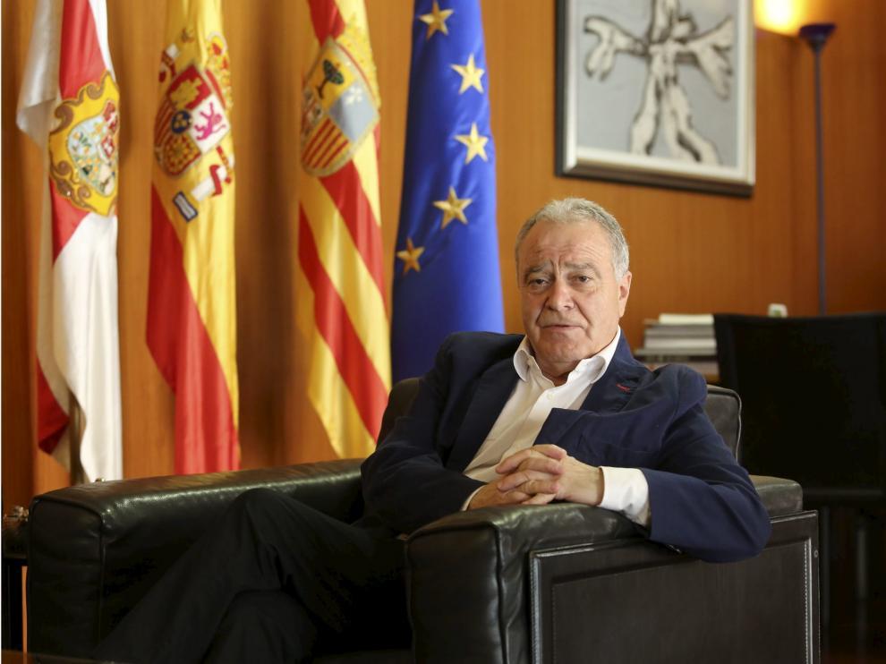 Miguel García, presidente de la Diputación Provincial de Huesca.